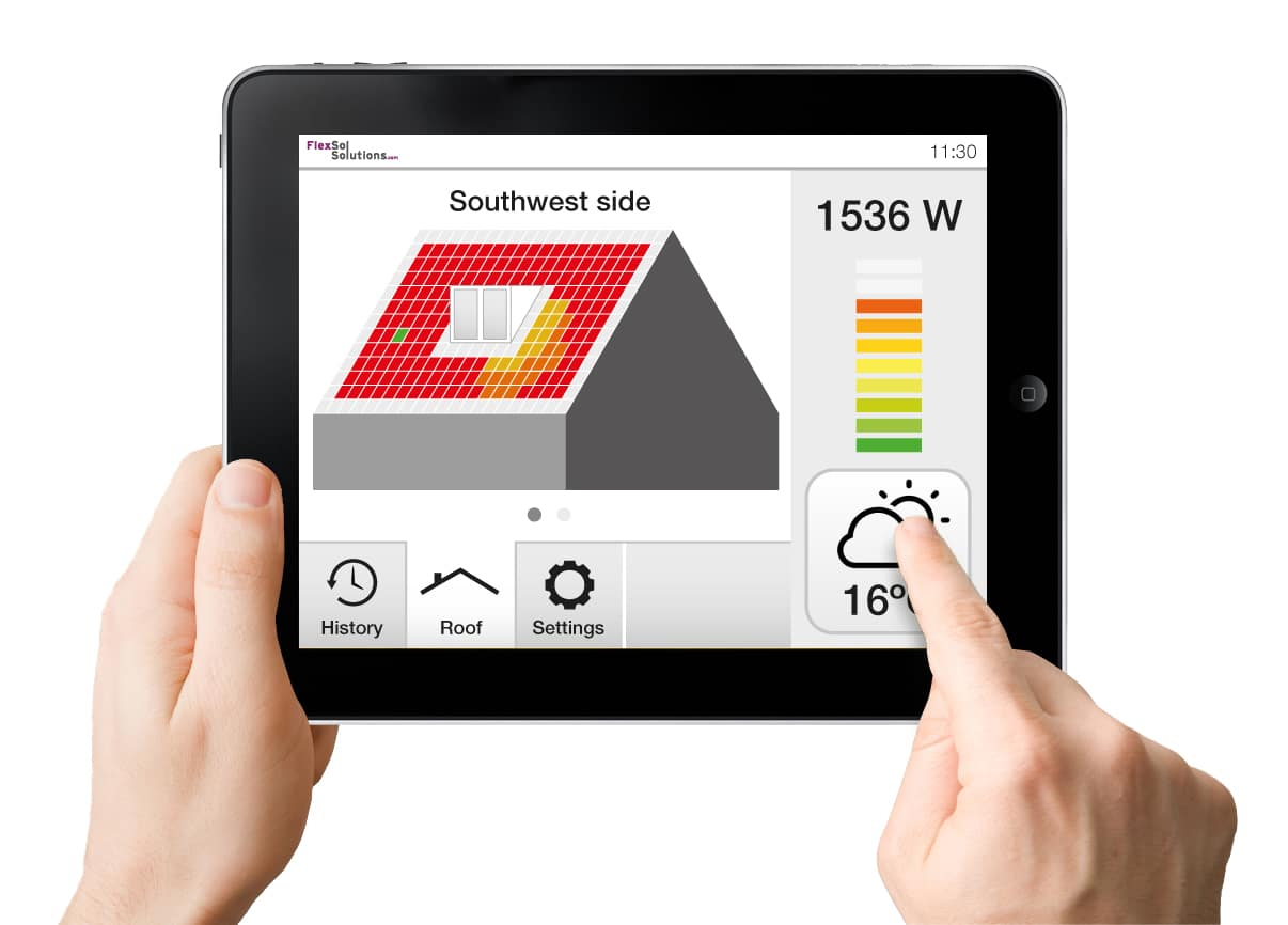 Solar roof tile user interface - FlexSol Solutions