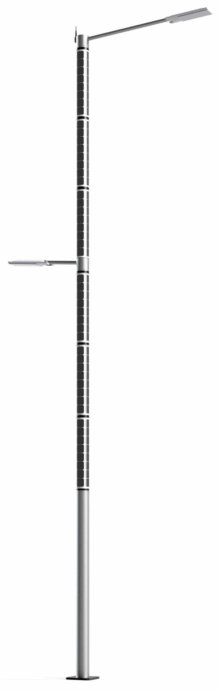 Solar light pole solar panel powered street light post