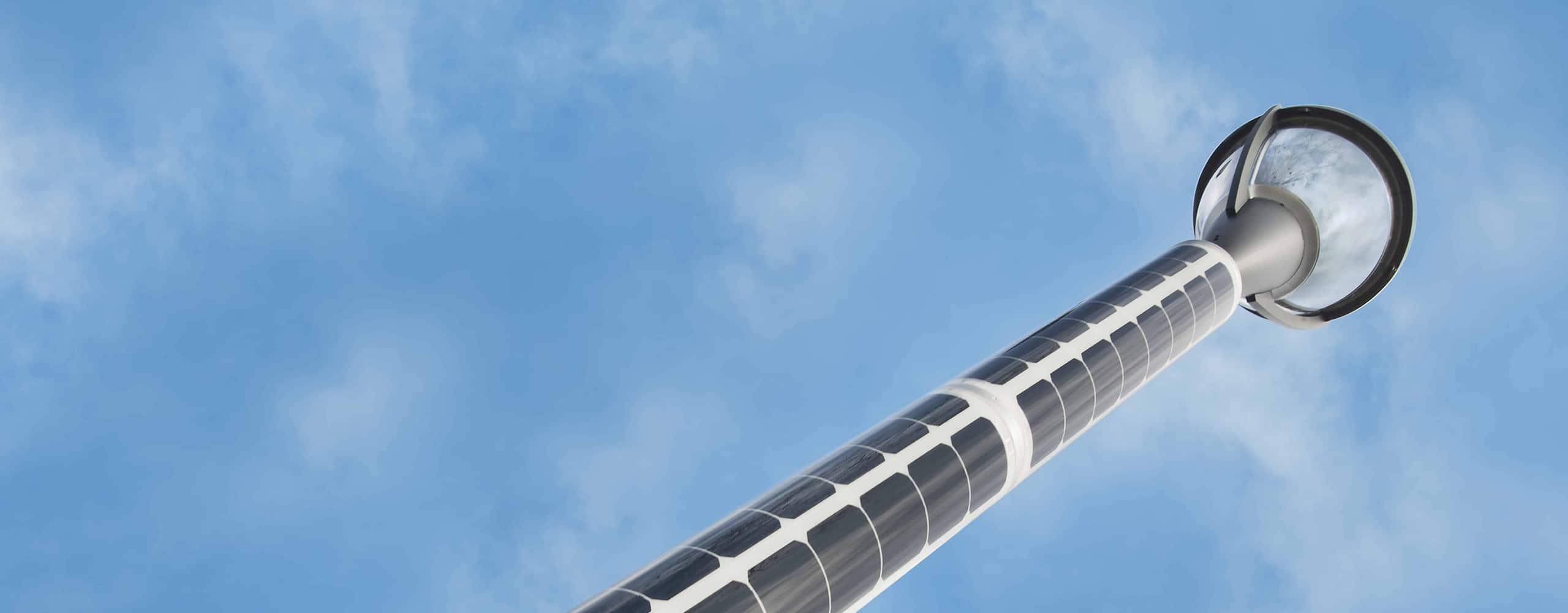 Solar light pole - Soluxio smart solar street light
